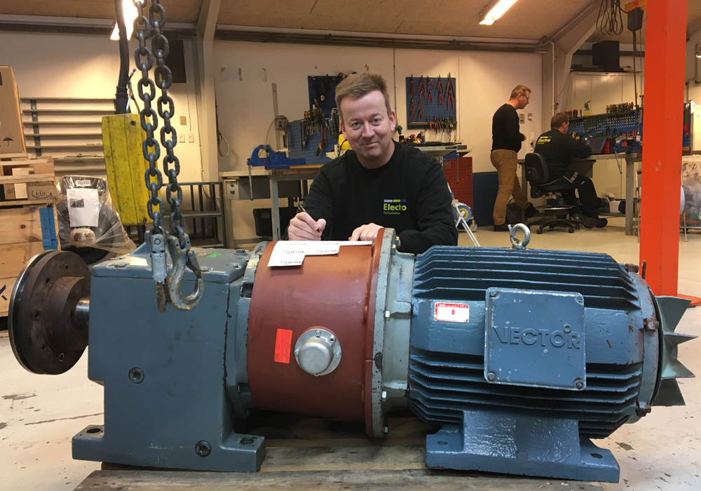 Reparation af gear-motor for DLG på Aarhus Havn